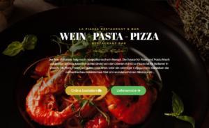 brand/text La Piazza Villach Wein Pizza Pasta Onlinehsop