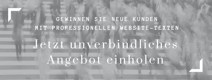 Website Texte Unverbindliches Angebot einholen brand/text