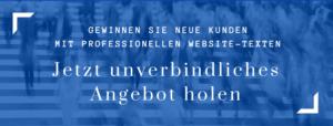 Website-Texte Unverbindliches Angebot holen brand/text