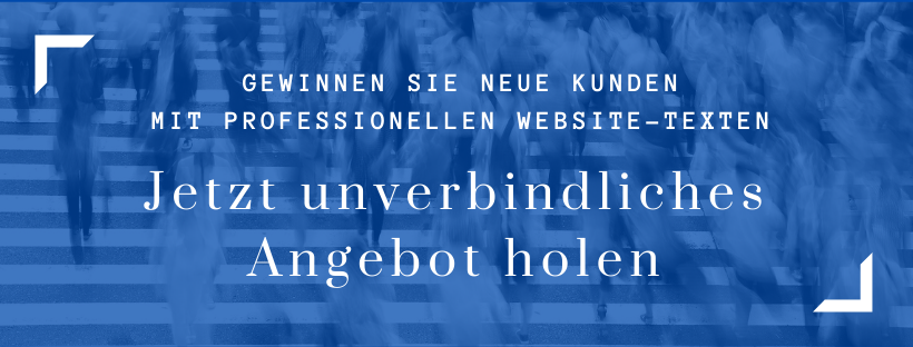 Website-Texte Unverbindliches Angebot holen brand/text
