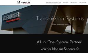 brand/text Zoerkler Gears Website